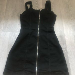 H&M Black Dress Front Zipper